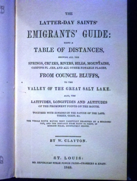 The Mormon Church published many immigrants guides to make it as easy to get to Utah as possible.