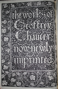 Title page from the Kelmscott Chaucer