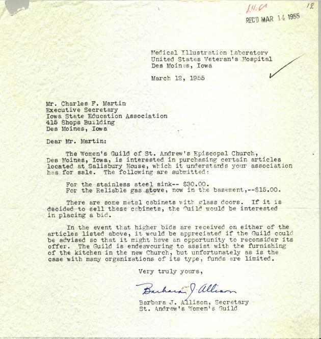 1955 Kitchen bids
