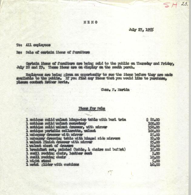 1955 Public Sale
