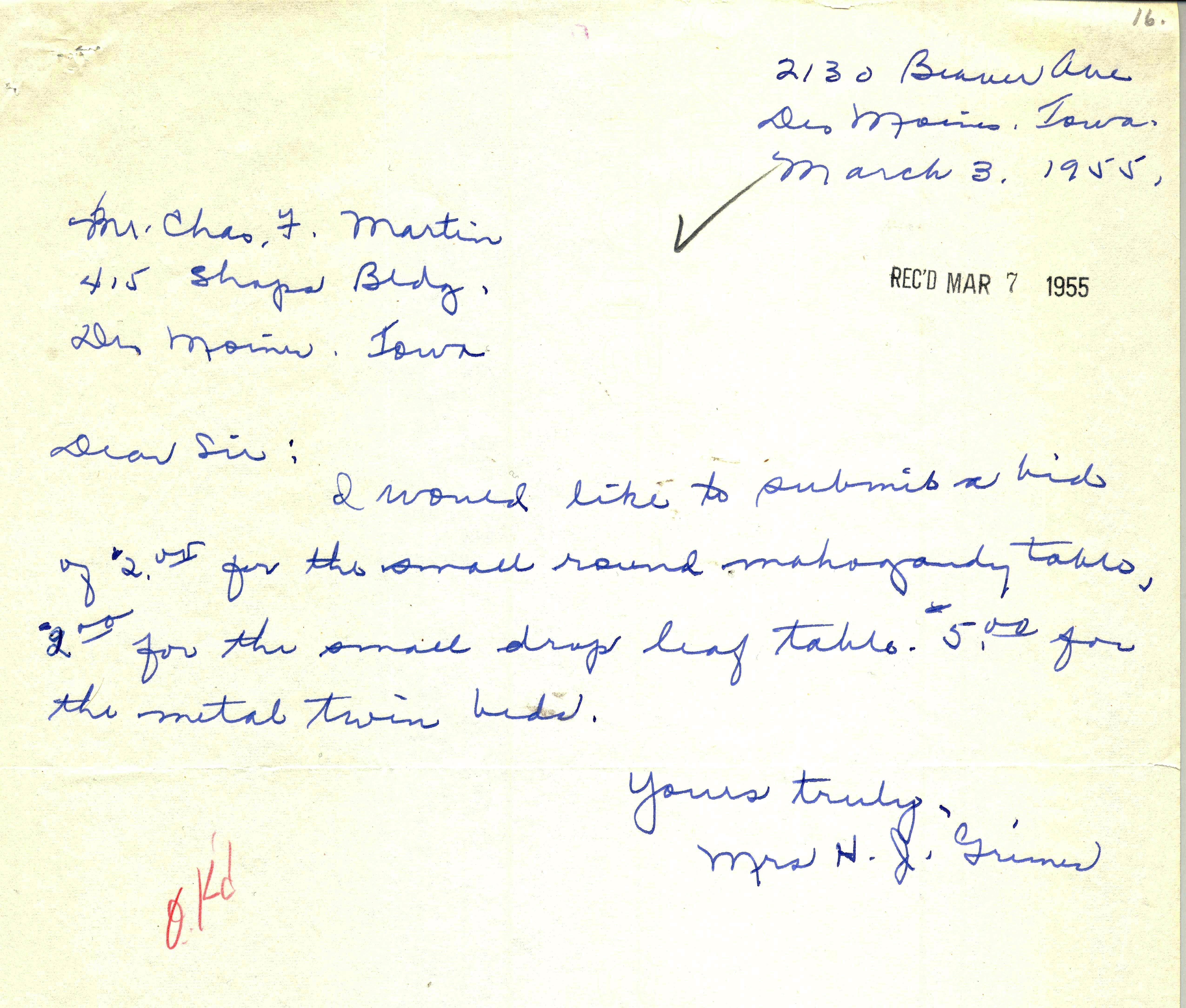 1955 Small bids