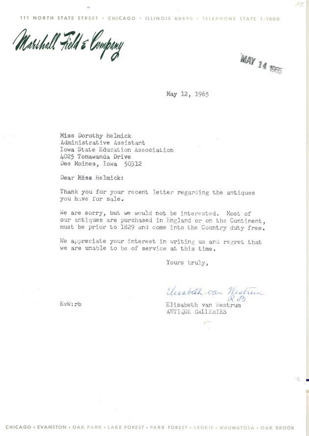 Marshall Field response