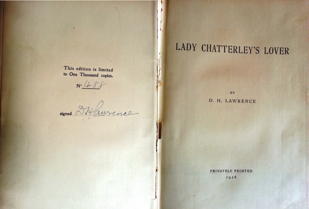 a propos of lady chatterley lover and other essays