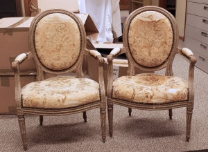 Pair of Louis XVI style chairs.