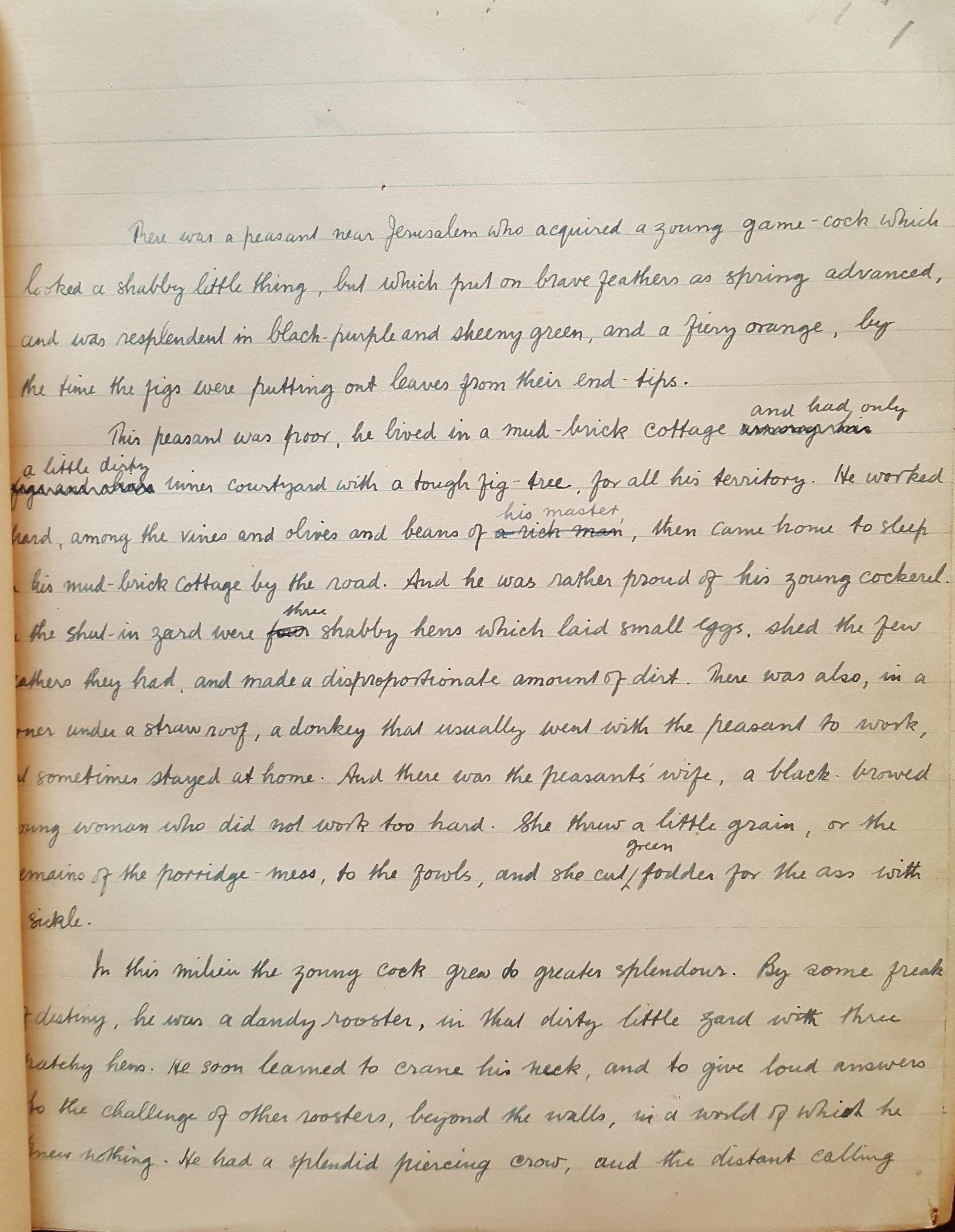 DH Lawrence manuscript