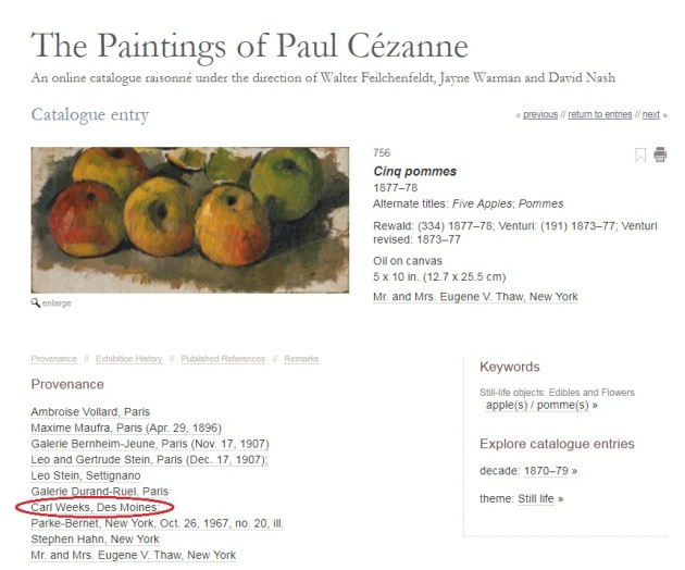 Cezanne catalog entry